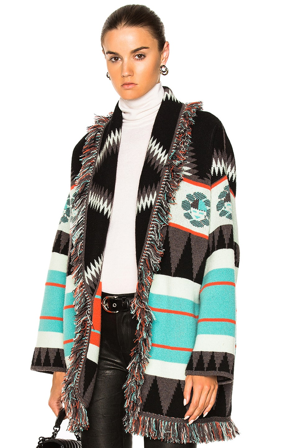 Alanui oversized jacquard cardigan coat Buy Cheap Low Shipping Fee Buy Cheap Reliable Cheap Fashion Style Get AJWDf