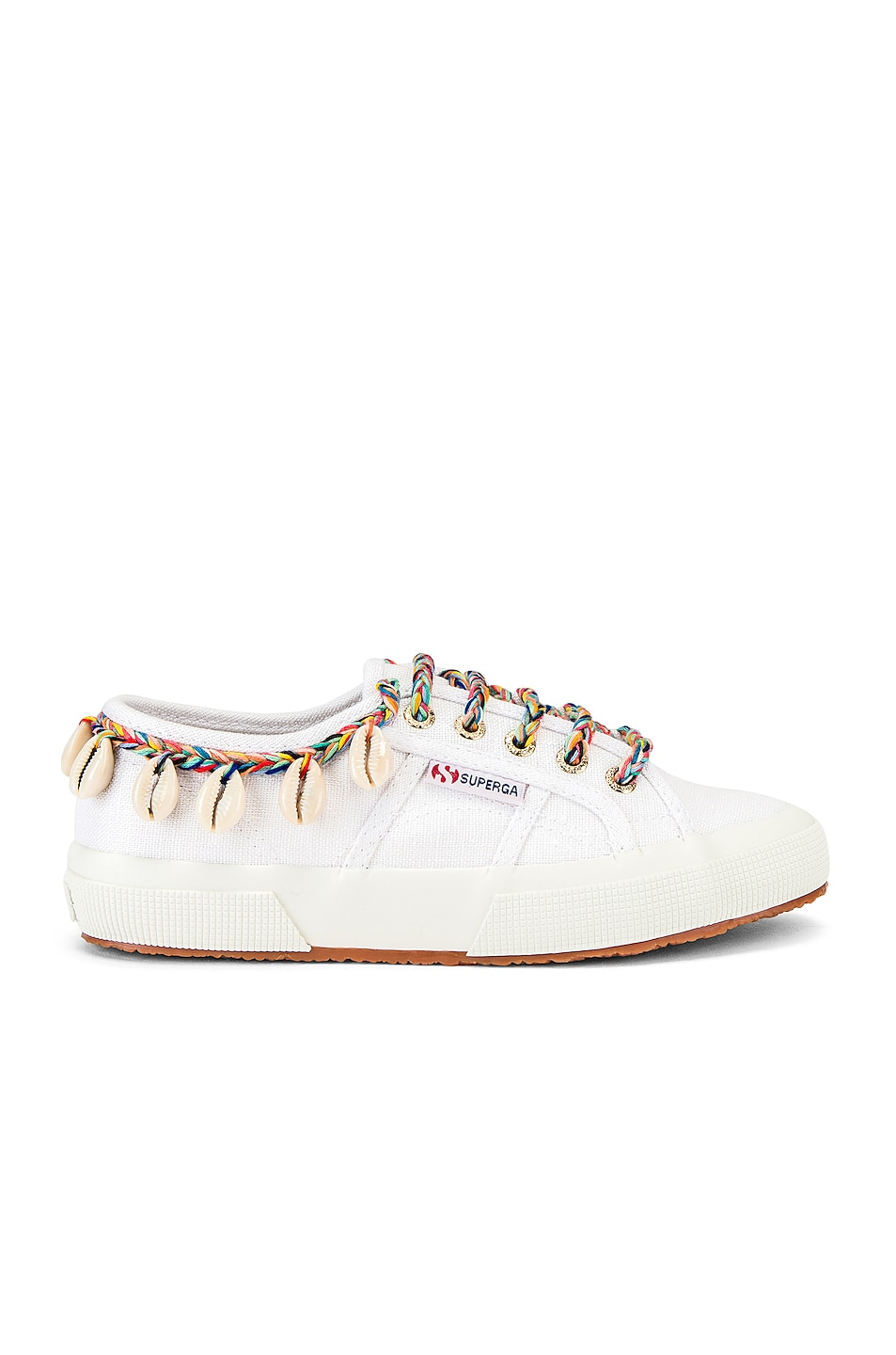 Image 1 of ALANUI x SUPERGA Low Top Cowrie Shells Sneaker in White Multi