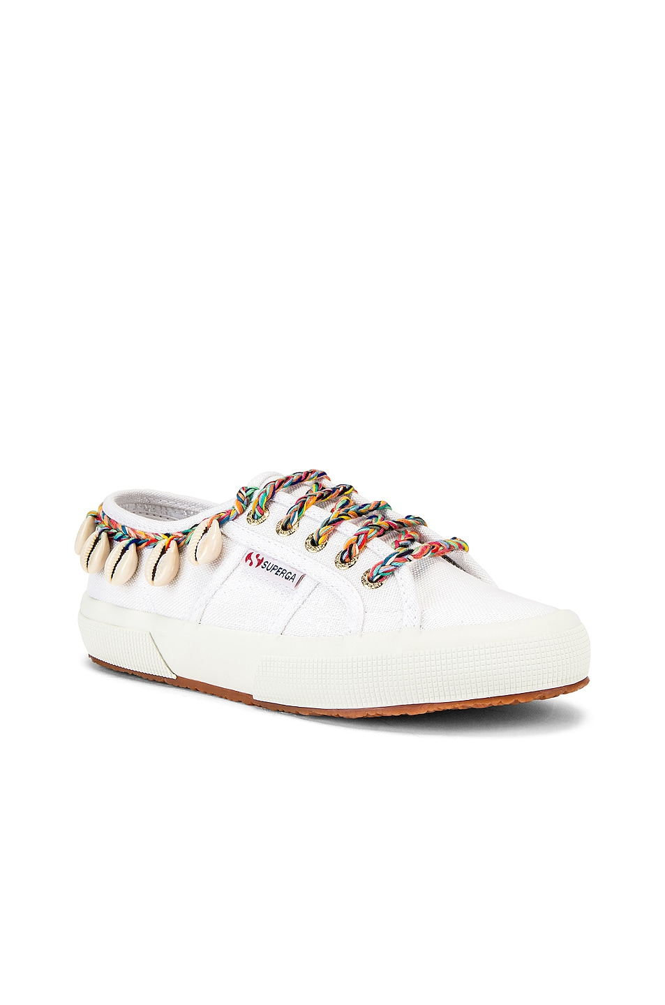Image 2 of ALANUI x SUPERGA Low Top Cowrie Shells Sneaker in White Multi