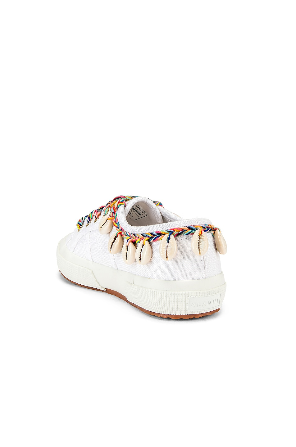 Image 3 of ALANUI x SUPERGA Low Top Cowrie Shells Sneaker in White Multi