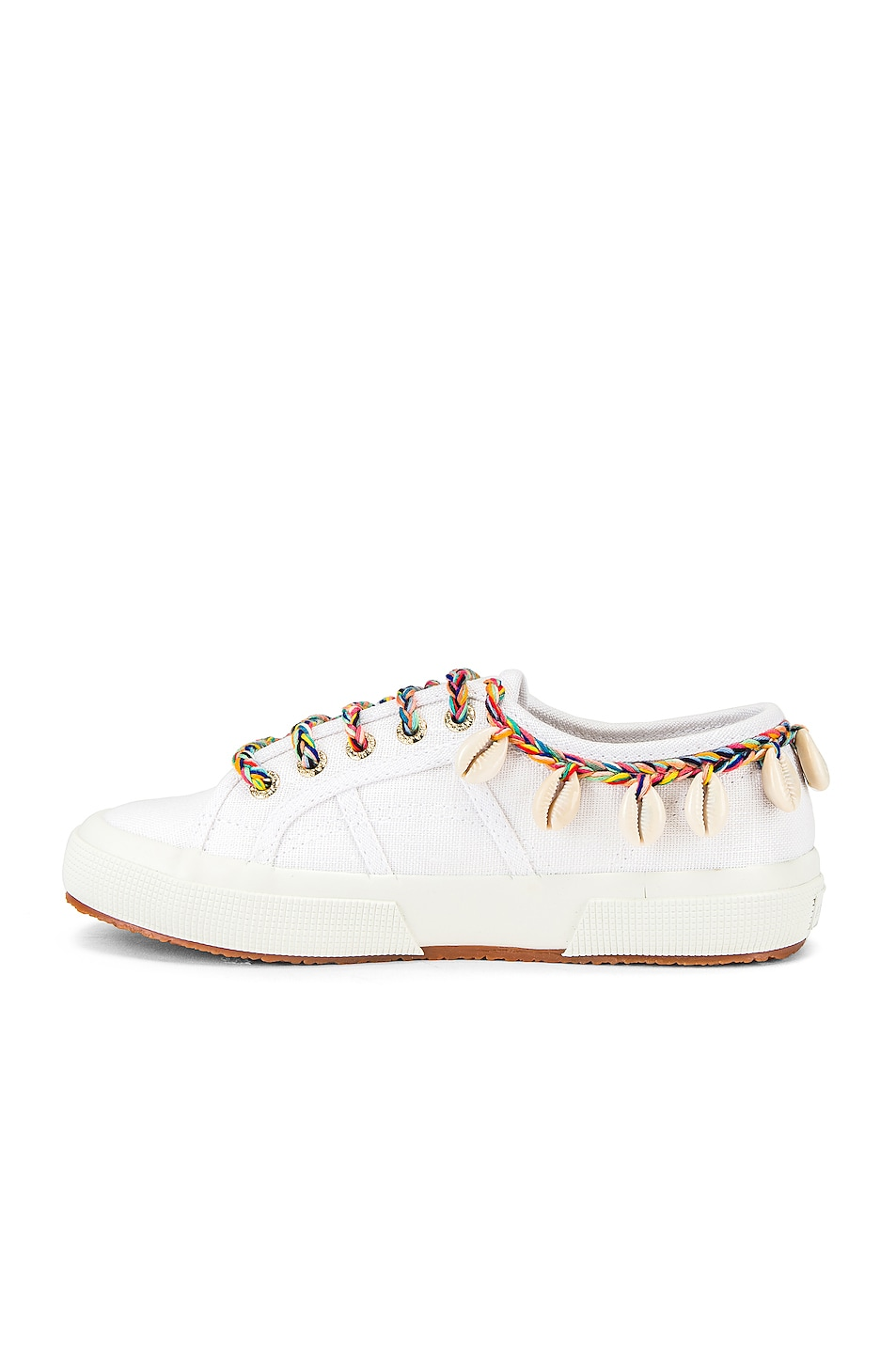 Image 5 of ALANUI x SUPERGA Low Top Cowrie Shells Sneaker in White Multi