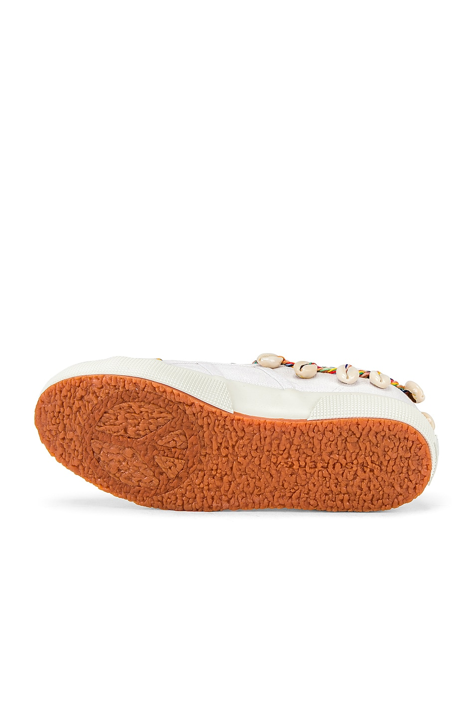 Image 6 of ALANUI x SUPERGA Low Top Cowrie Shells Sneaker in White Multi