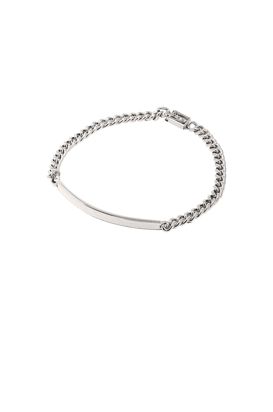 Image 1 of A.P.C. Small ID Bracelet in Silver