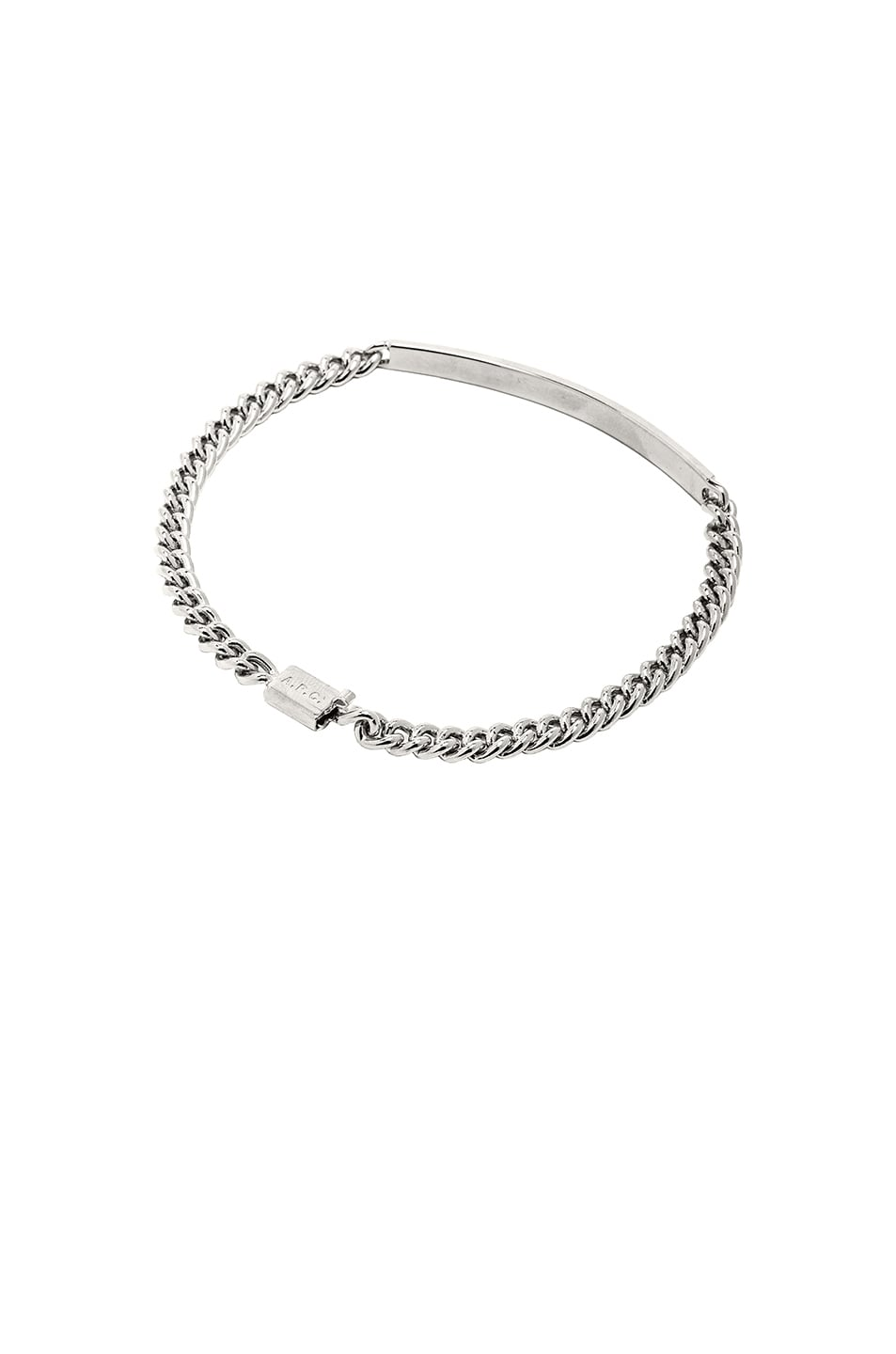 Image 2 of A.P.C. Small ID Bracelet in Silver