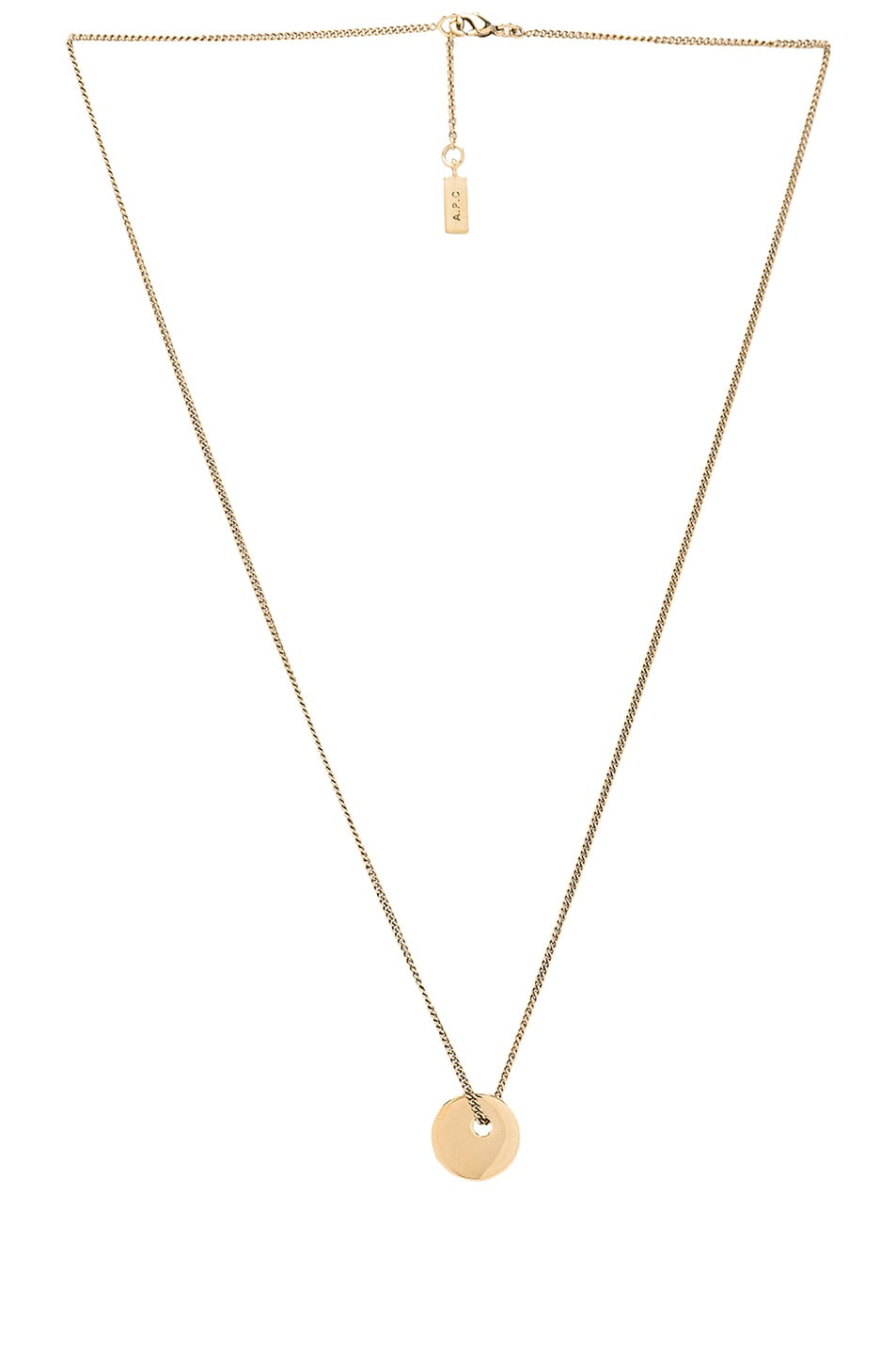 p necklace a metallic gold money jewelry product in apc c gallery normal lyst