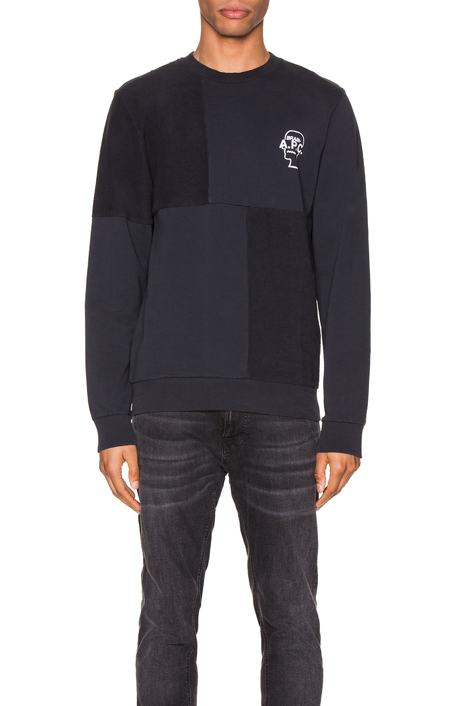 Image 1 of A.P.C. x Brain Dead Pony Sweatshirt in Dark Navy