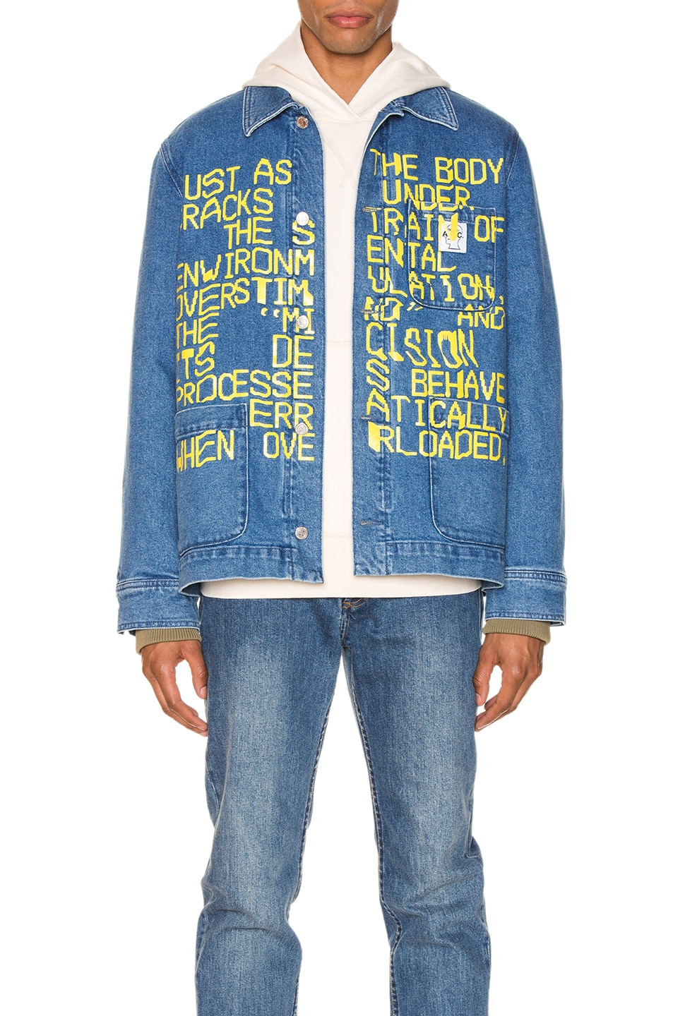 Image 1 of A.P.C. x Brain Dead Imhotep Jacket in Indigo Delave