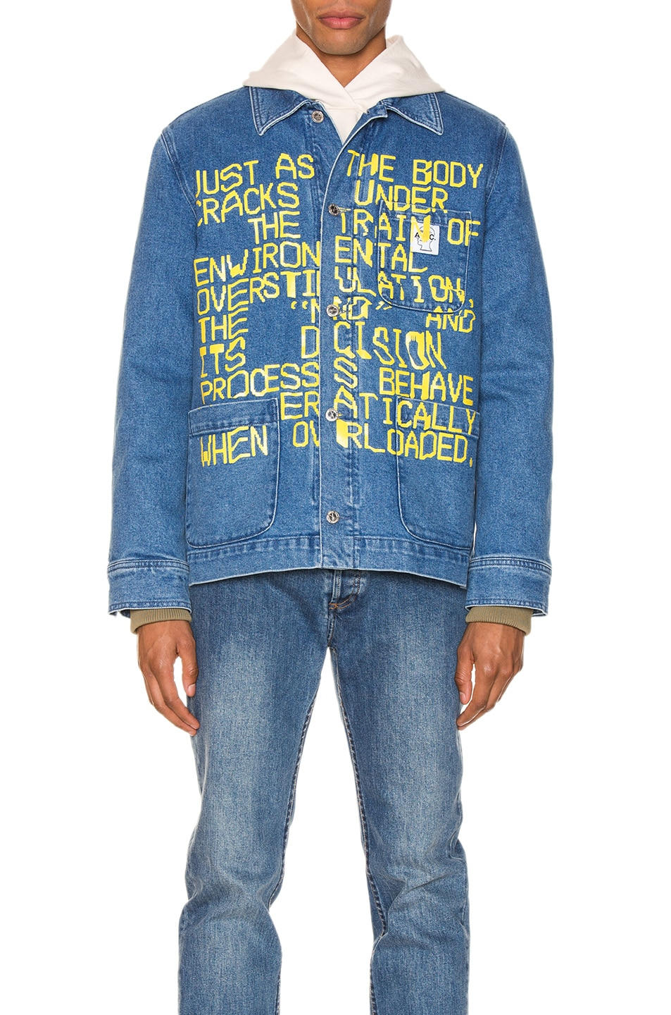 Image 2 of A.P.C. x Brain Dead Imhotep Jacket in Indigo Delave