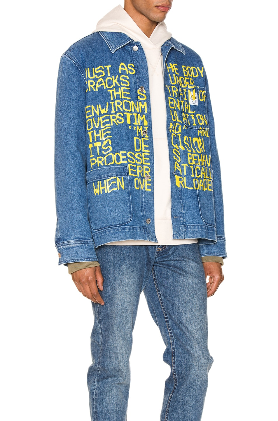 Image 3 of A.P.C. x Brain Dead Imhotep Jacket in Indigo Delave