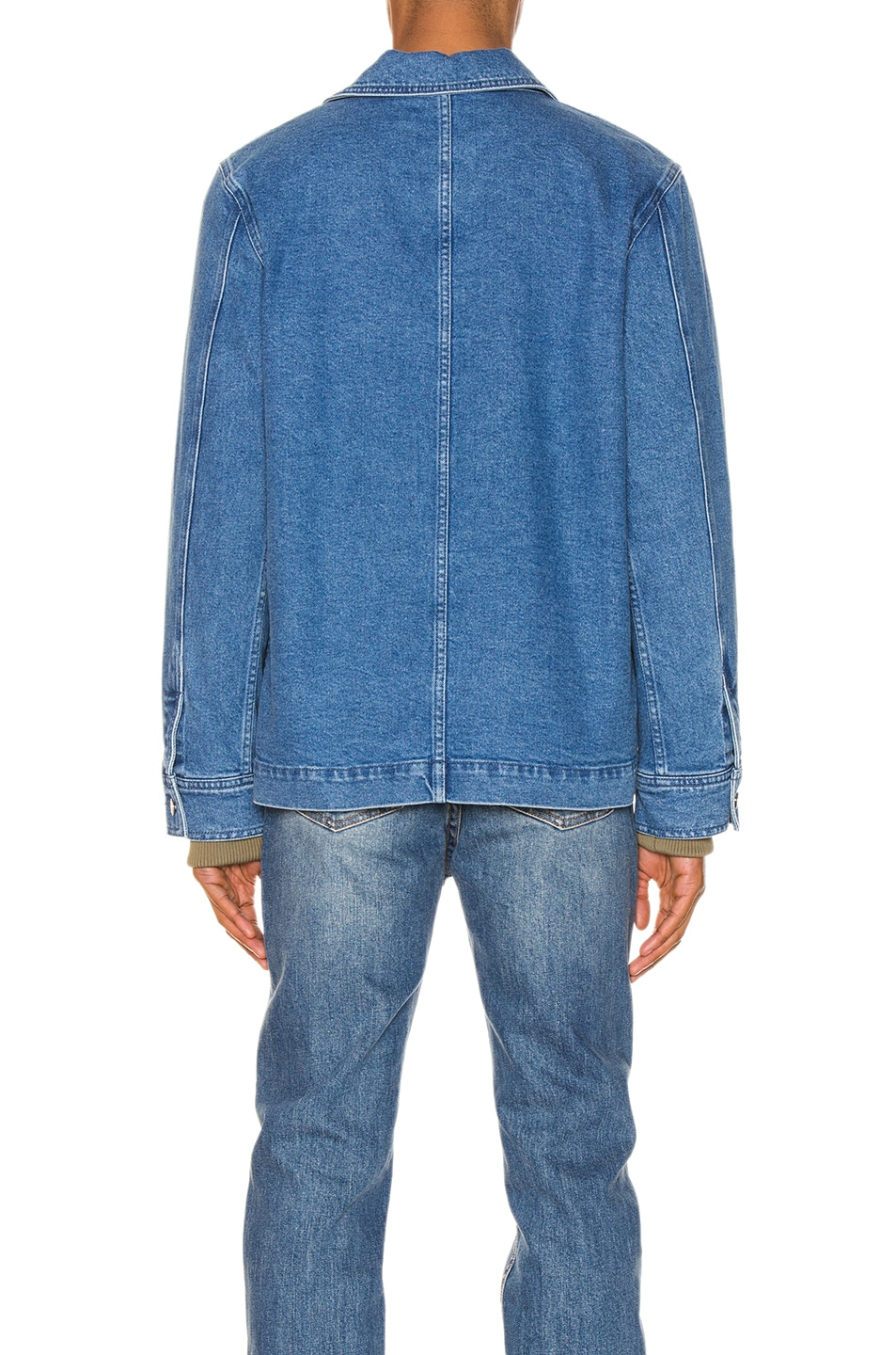 Image 4 of A.P.C. x Brain Dead Imhotep Jacket in Indigo Delave