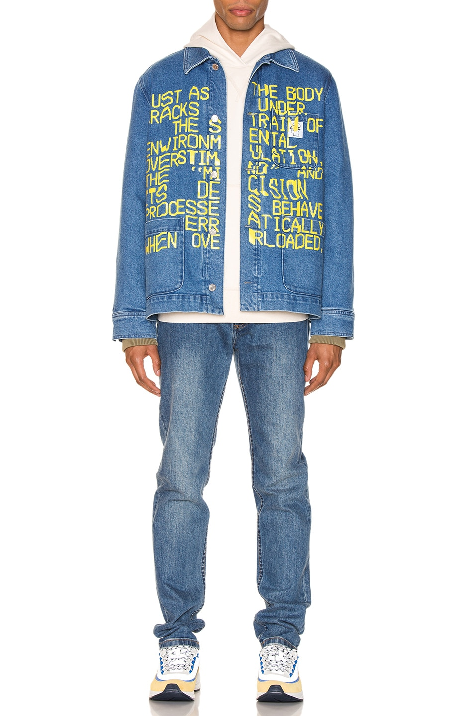 Image 5 of A.P.C. x Brain Dead Imhotep Jacket in Indigo Delave