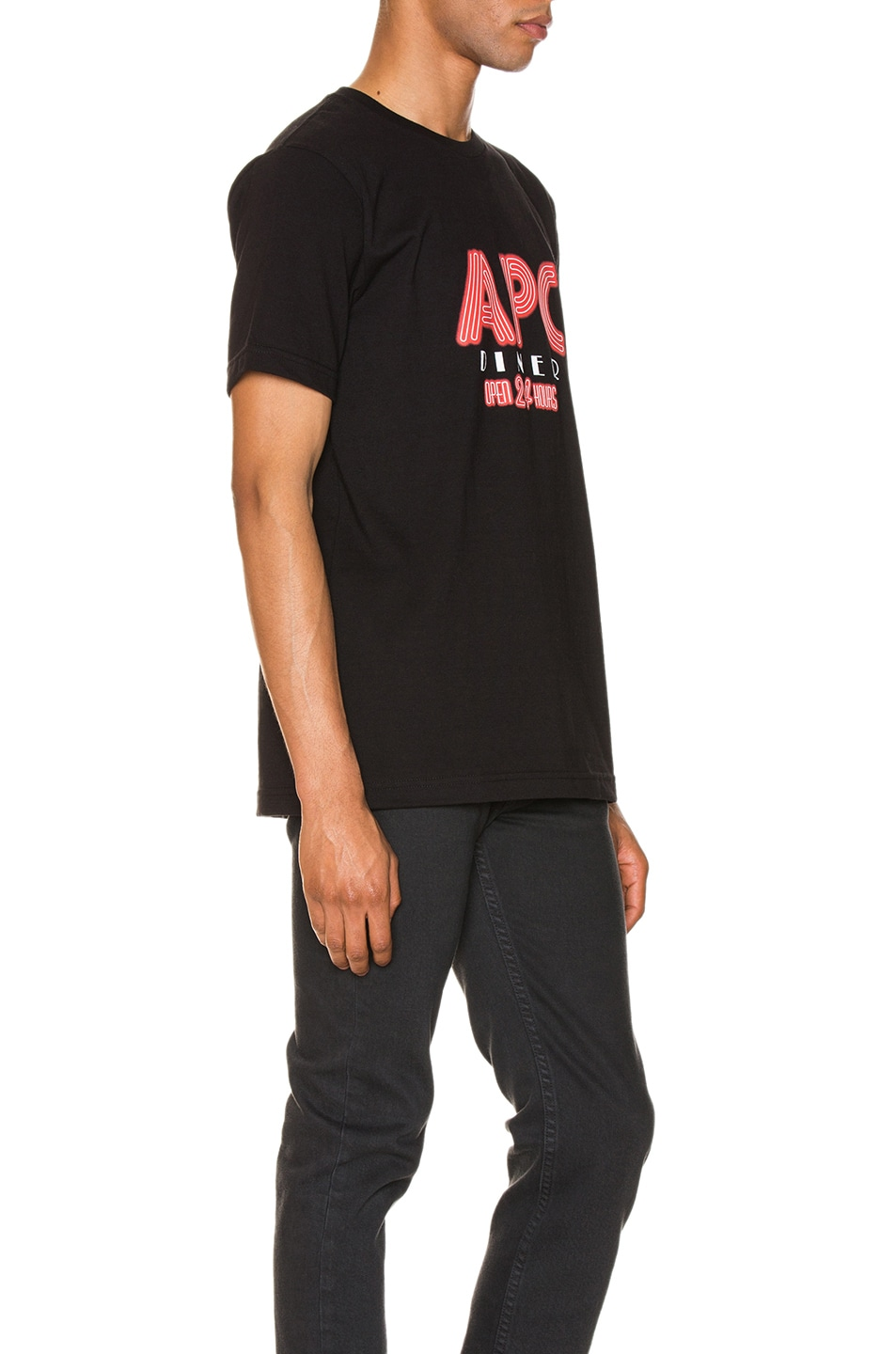 Image 2 of A.P.C. Taylor Tee in Black