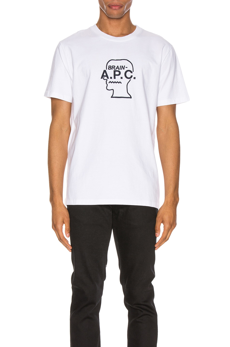 Image 1 of A.P.C. x Brain Dead Spooky T-Shirt in Blanc