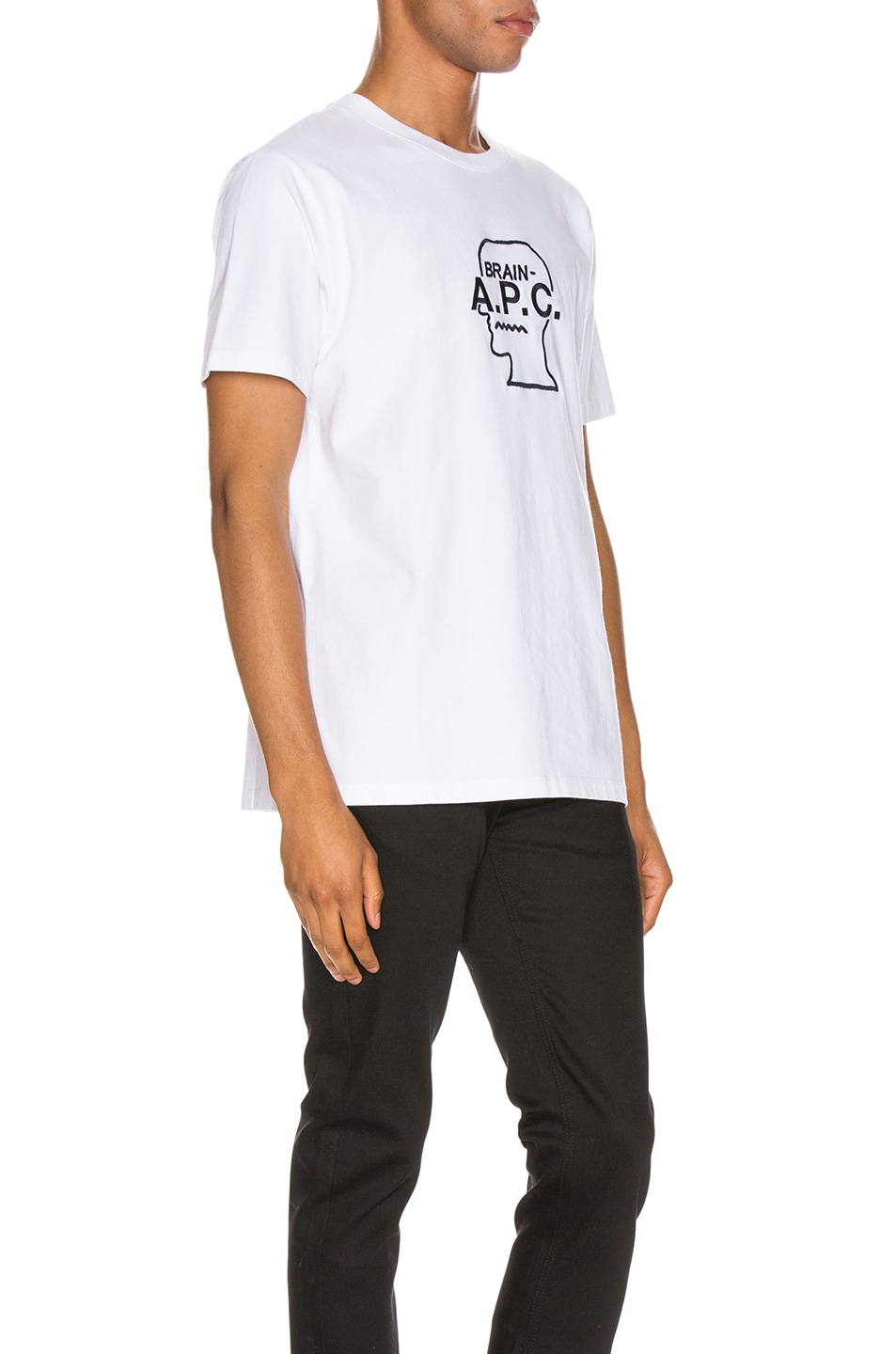 Image 2 of A.P.C. x Brain Dead Spooky T-Shirt in Blanc