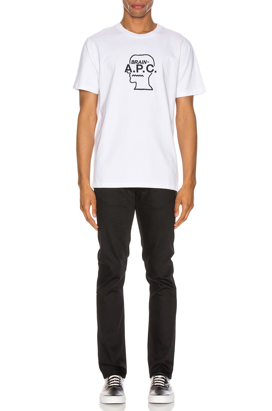 Image 4 of A.P.C. x Brain Dead Spooky T-Shirt in Blanc