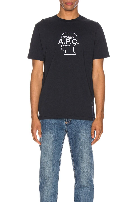 Image 1 of A.P.C. x Brain Dead Spooky T-Shirt in Dark Navy