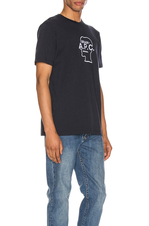 Image 2 of A.P.C. x Brain Dead Spooky T-Shirt in Dark Navy