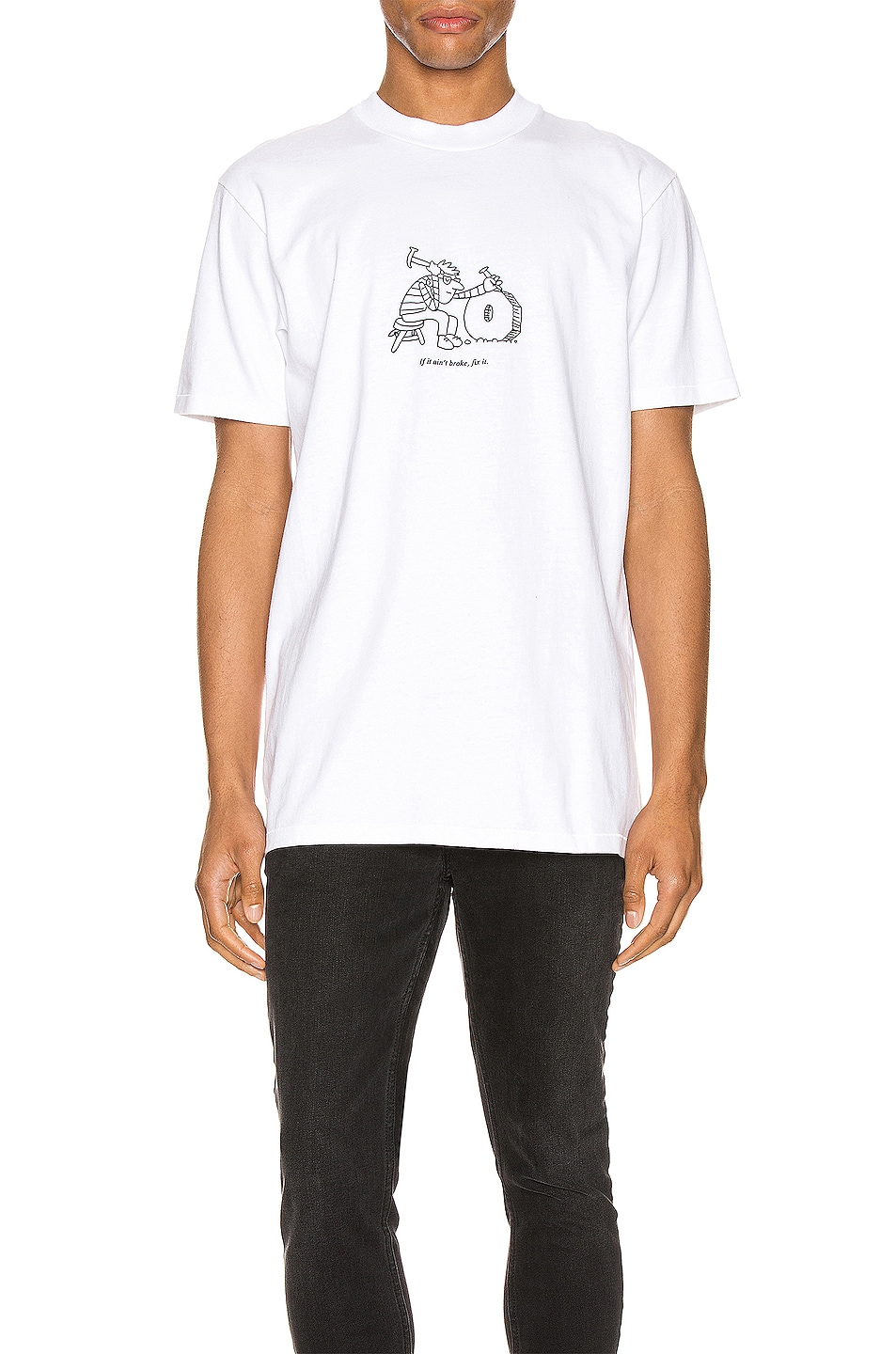 Image 1 of A.P.C. x JJJJound Rough Tee in Blanc