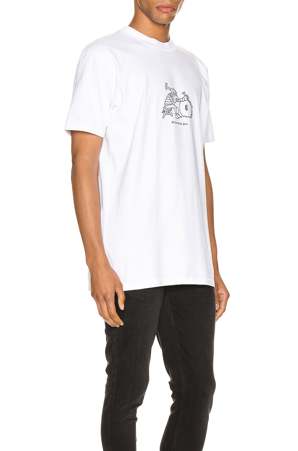 Image 2 of A.P.C. x JJJJound Rough Tee in Blanc