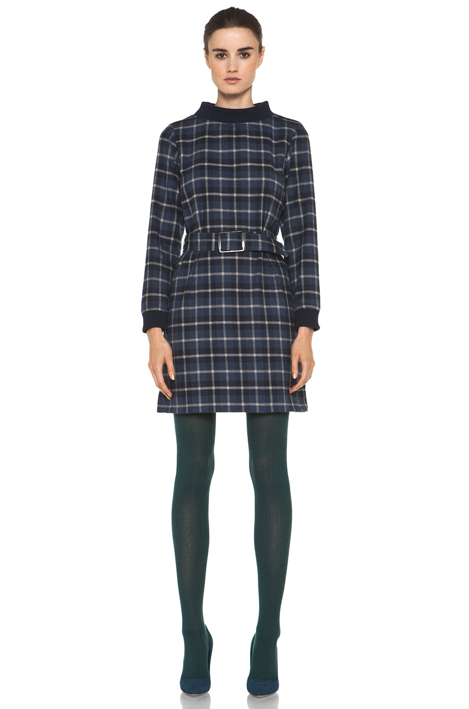 Image 1 of A.P.C. 80s Dress in Marine