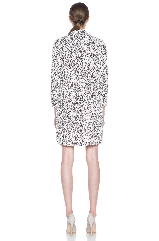 Image 4 of A.P.C. Viscose-Blend Tie-Neck Printed Dress in Ecru