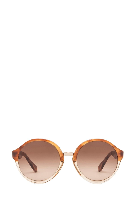 Image 1 of A.P.C. Acetate Retro Super Future Sunglasses in Caramel