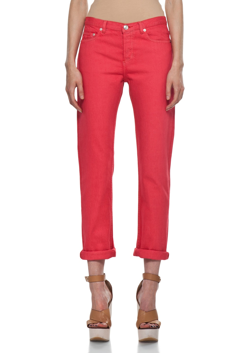 Image 1 of A.P.C. New Court Jean in Rouge