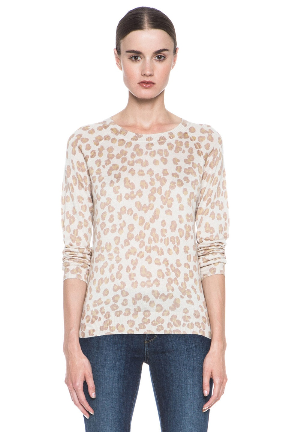 Image 1 of A.P.C. Cashmere Pullover Leopard in Beige