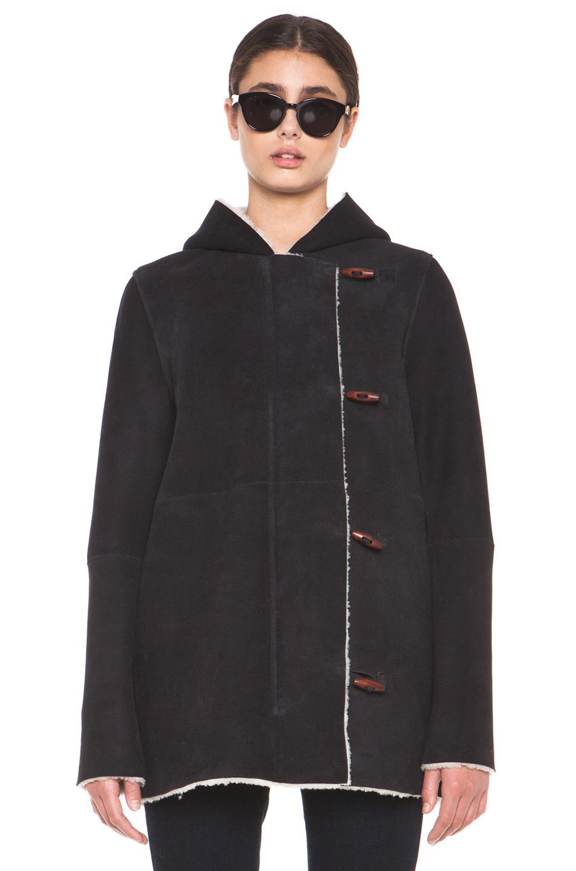 Image 1 of A.P.C. Manteau Capuche Coat in Noir