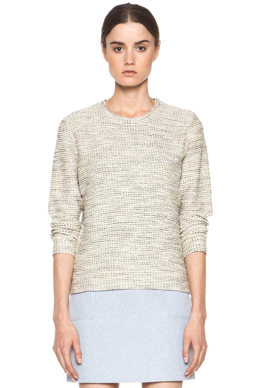 Image 1 of A.P.C. Gold Tweed Sweatshirt in Multicolor