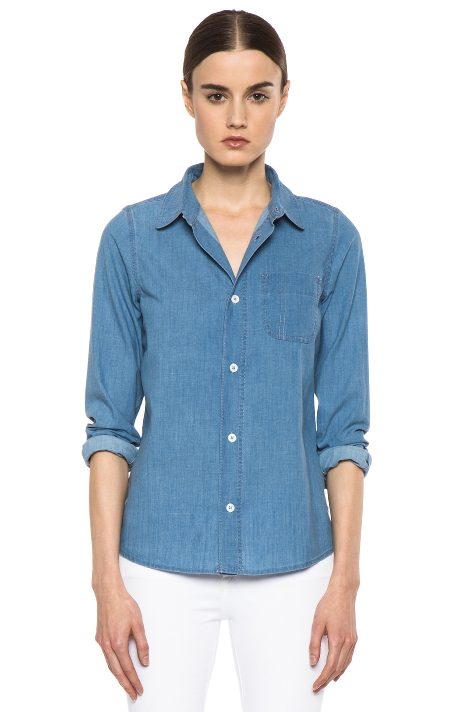 Image 1 of A.P.C. Chambray Chemise in Bleu