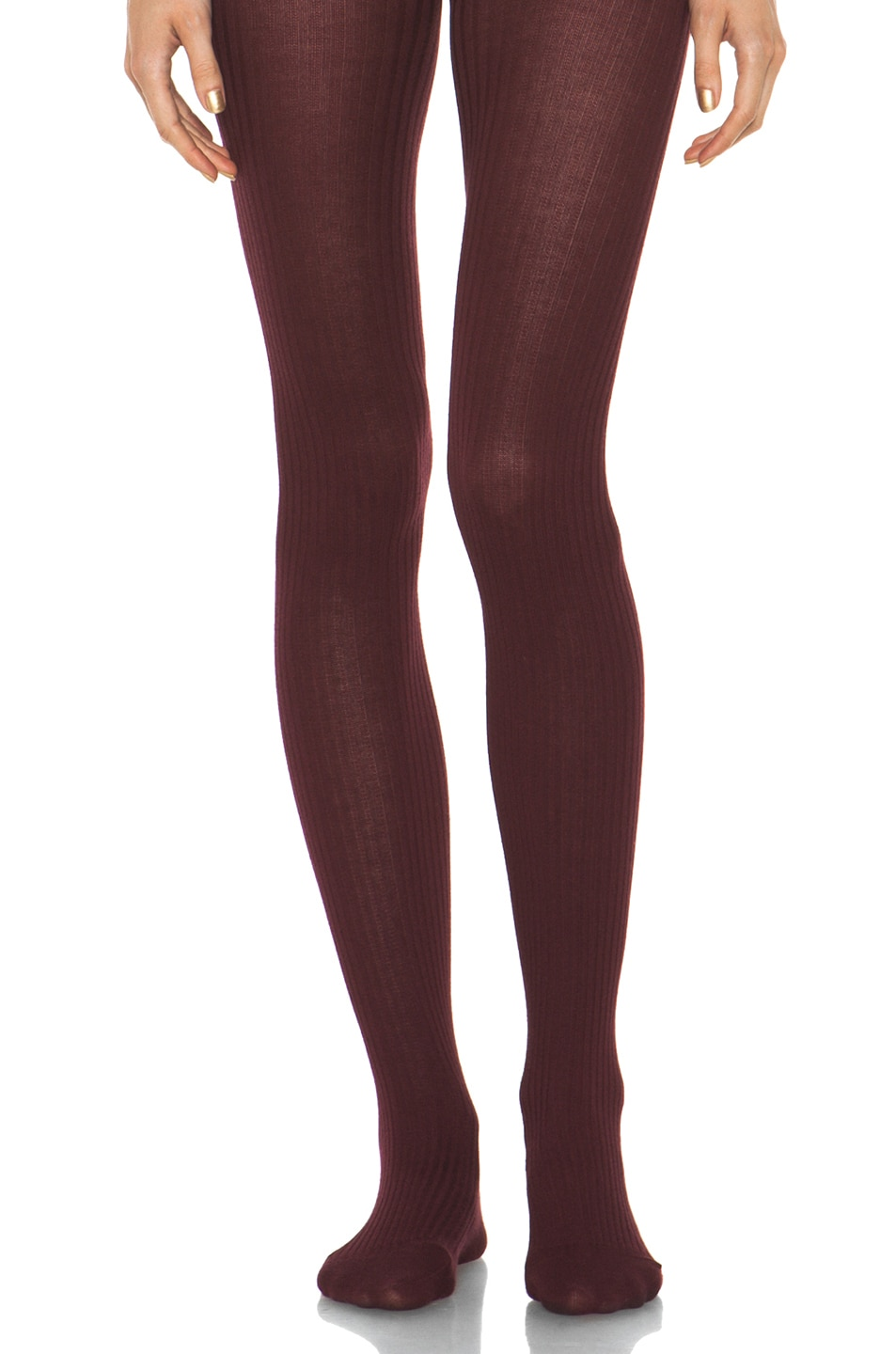 Image 1 of A.P.C. Collant Tights in Bordeaux
