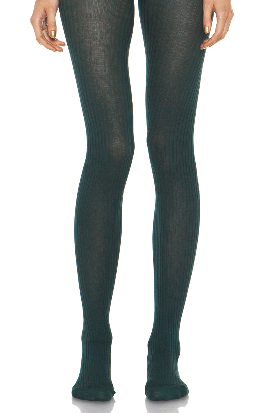 Image 1 of A.P.C. Collant Tights in Blue Canard