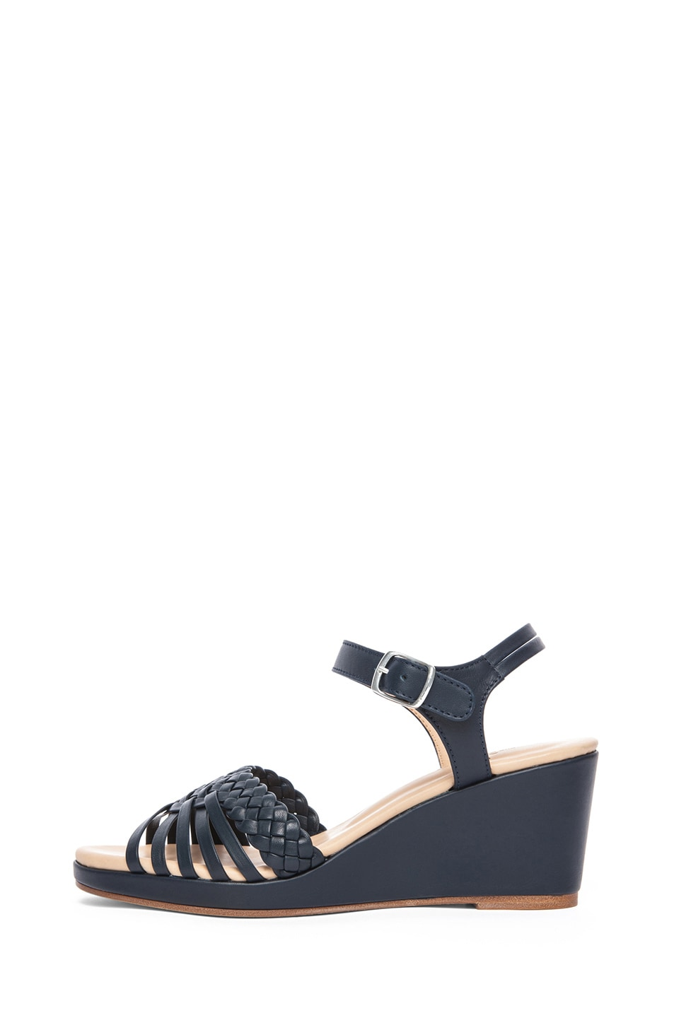 Image 1 of A.P.C. Cuir Epais Sandal in Dark Navy