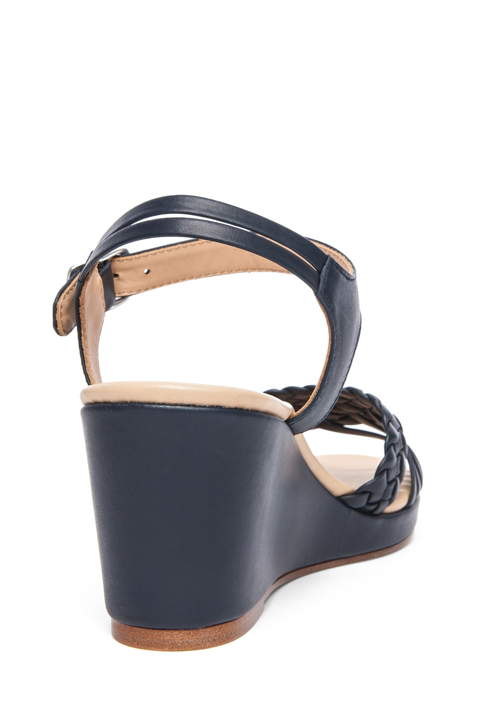 Image 3 of A.P.C. Cuir Epais Sandal in Dark Navy
