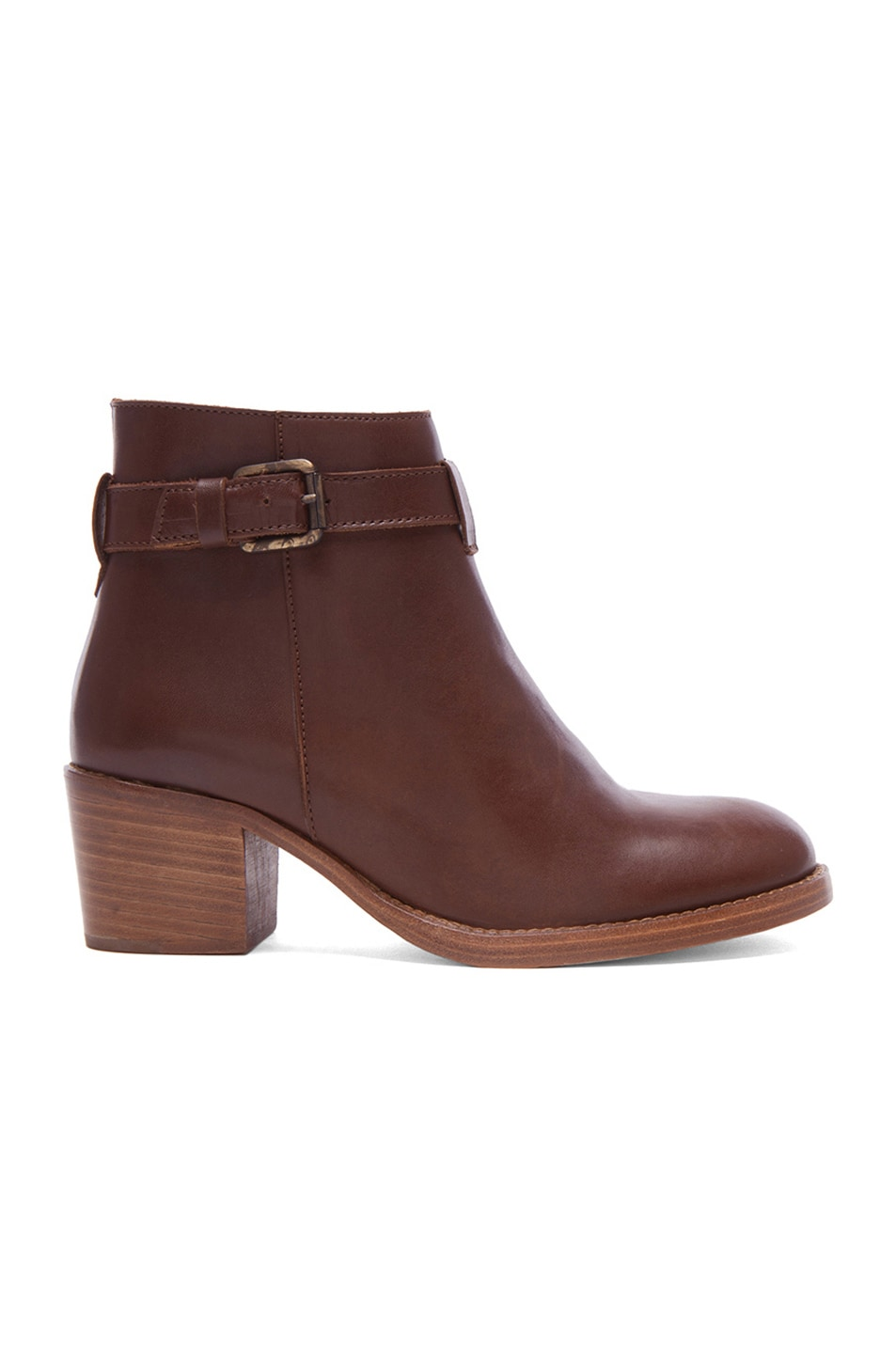 Image 1 of A.P.C. Joe Leather Boots in Marron