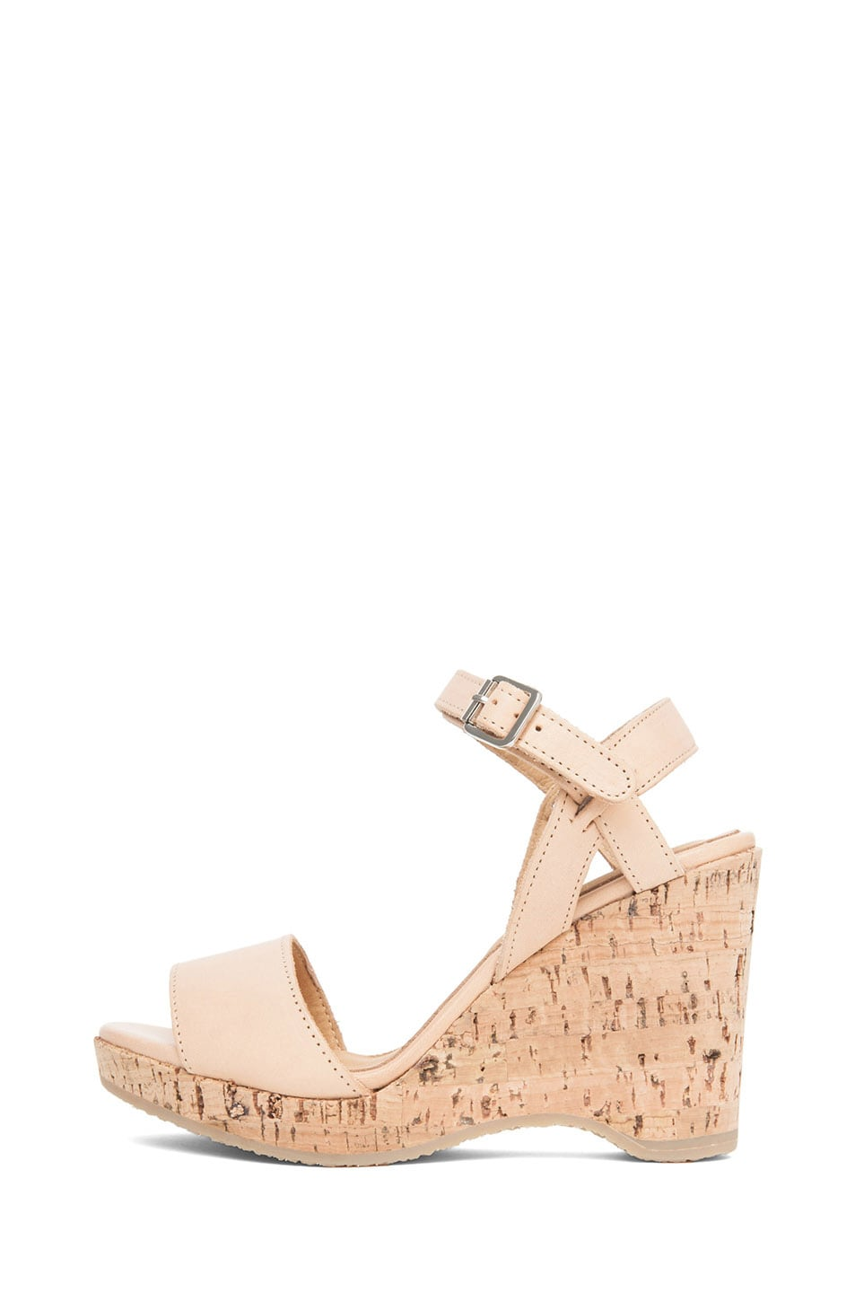 Image 1 of A.P.C. Lisse Calfskin Leather Sandals in Beige Rose