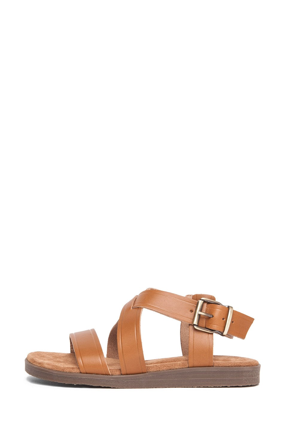 Image 1 of A.P.C. Eapis Leather Sandal in Noisette