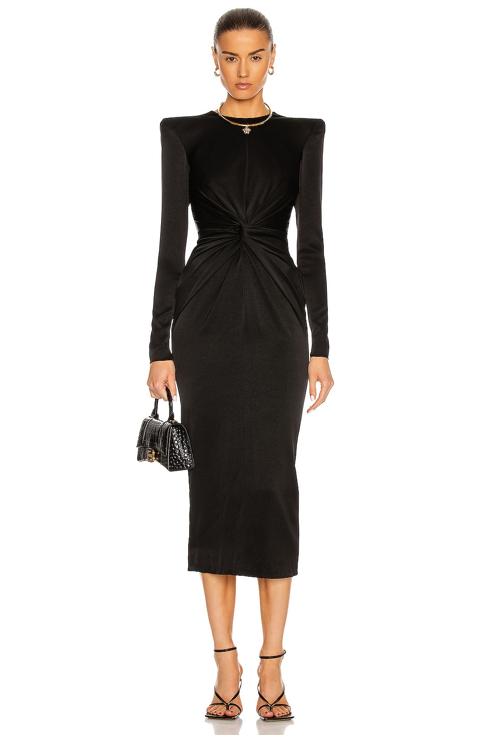 Image 1 of Alex Perry Darden Dress in Black