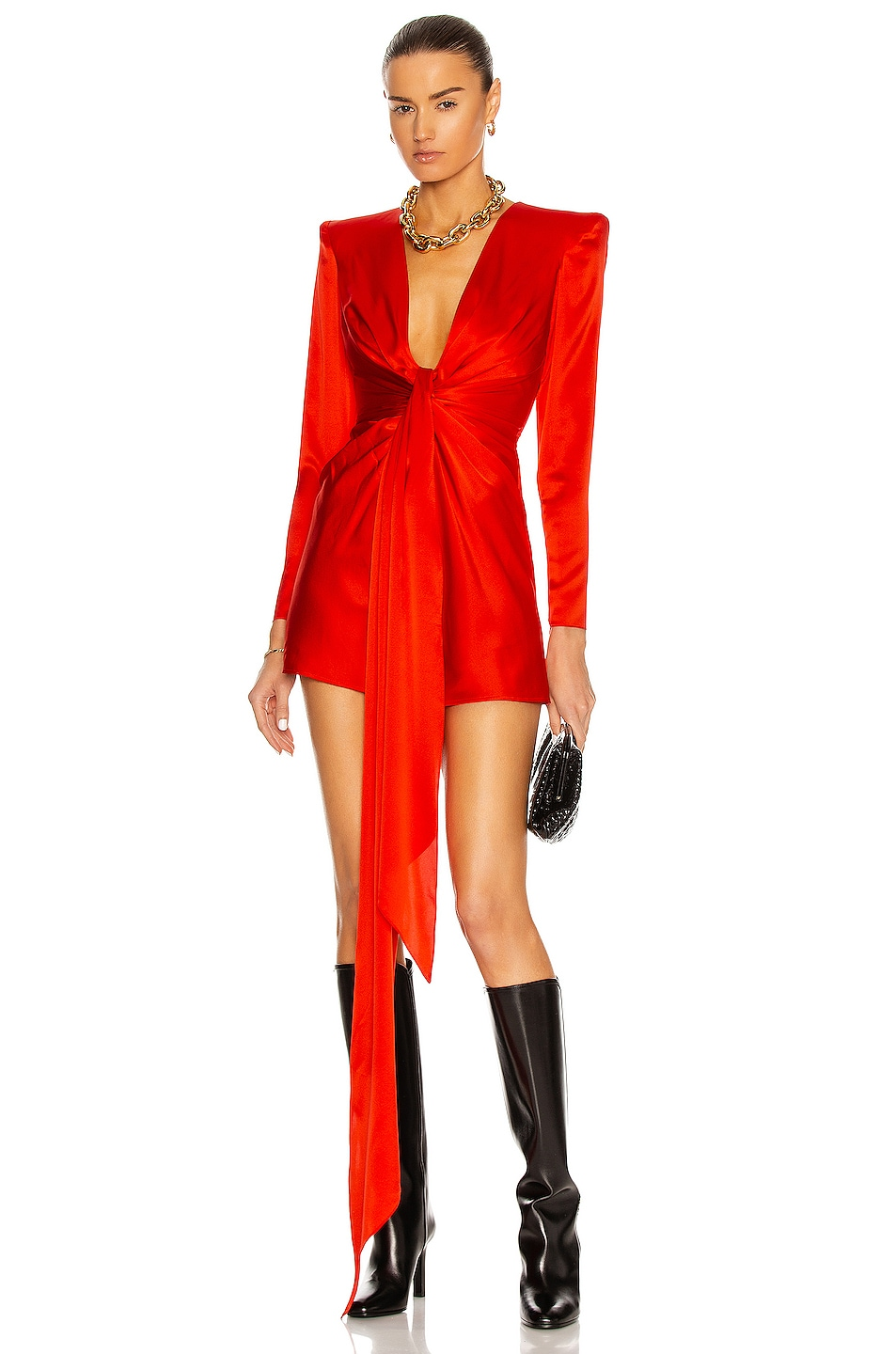 Image 1 of Alex Perry Banner Dress in Scarlet
