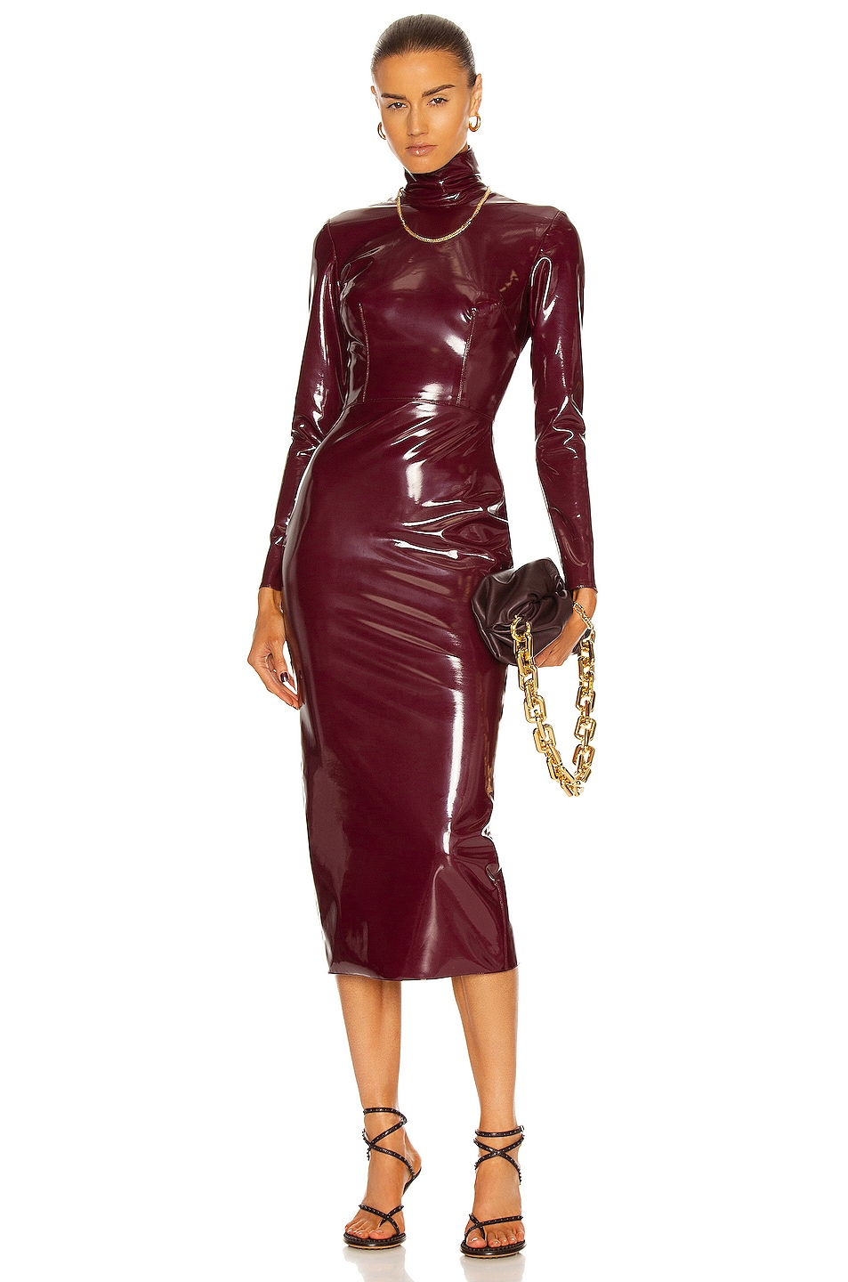 Image 1 of Alex Perry Adams Dress in Cherry