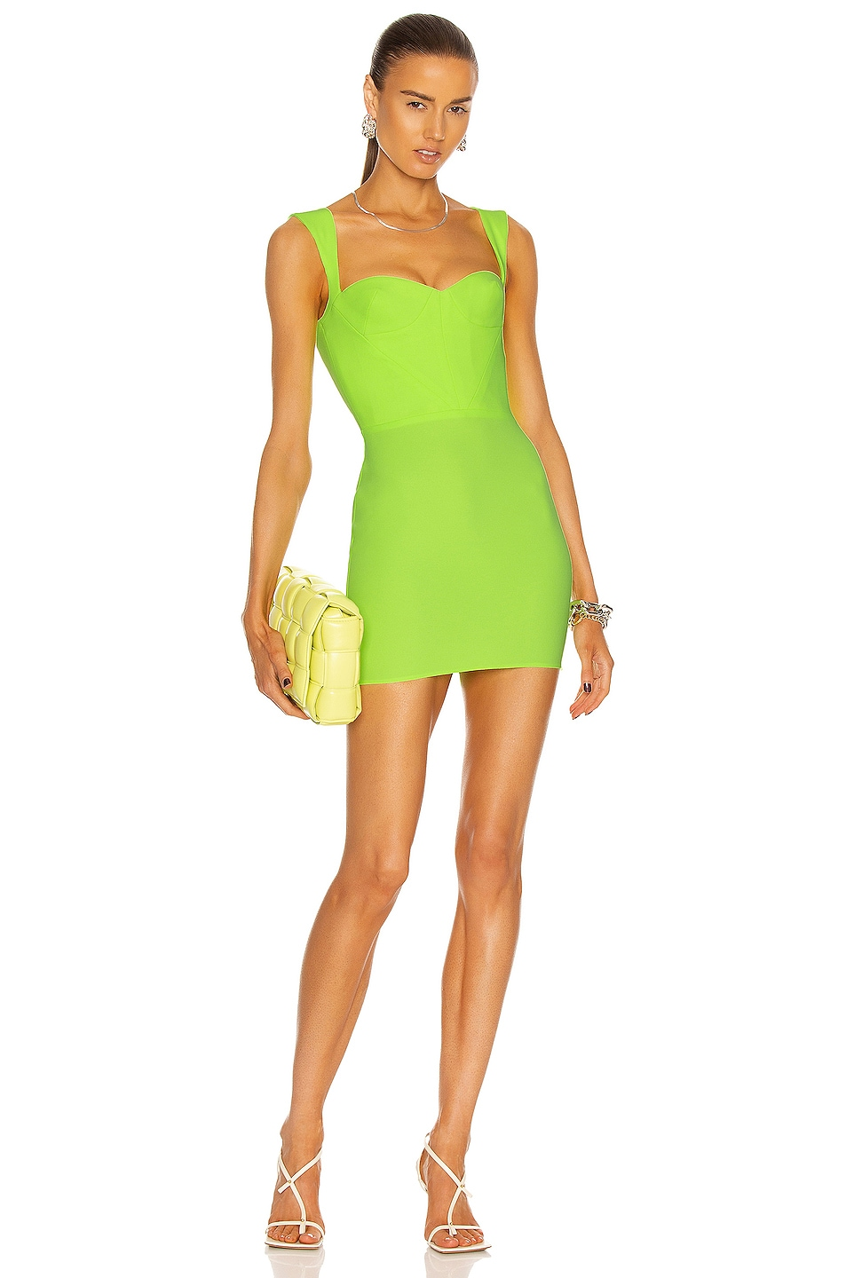 Image 1 of Alex Perry Dylan Dress in Lime