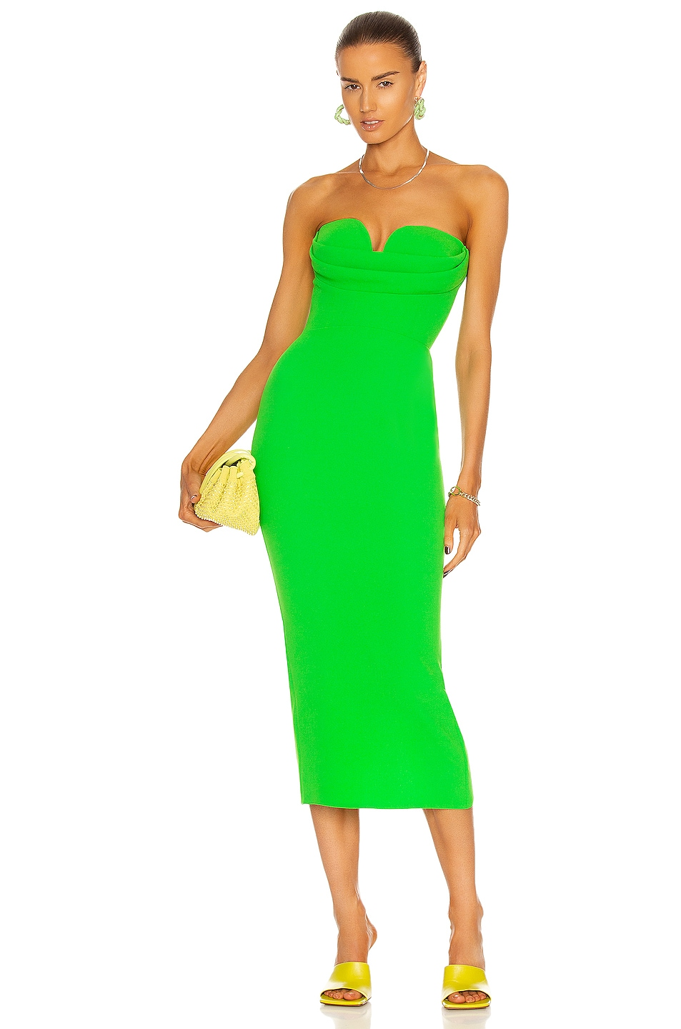 Image 1 of Alex Perry Darcy Dress in Green