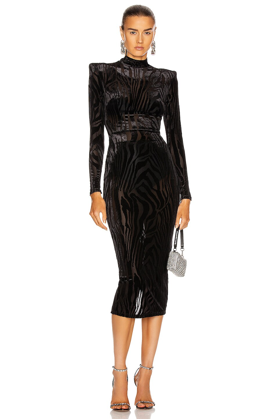 Image 1 of Alex Perry Hadley Dress in Black