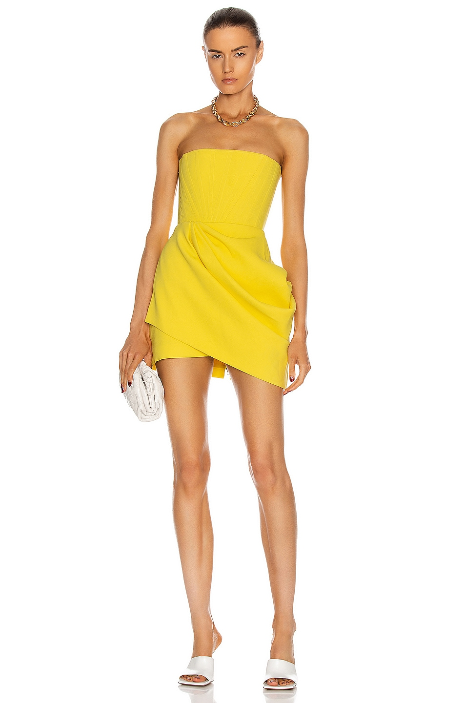 Image 1 of Alex Perry Buckley Dress in Yellow