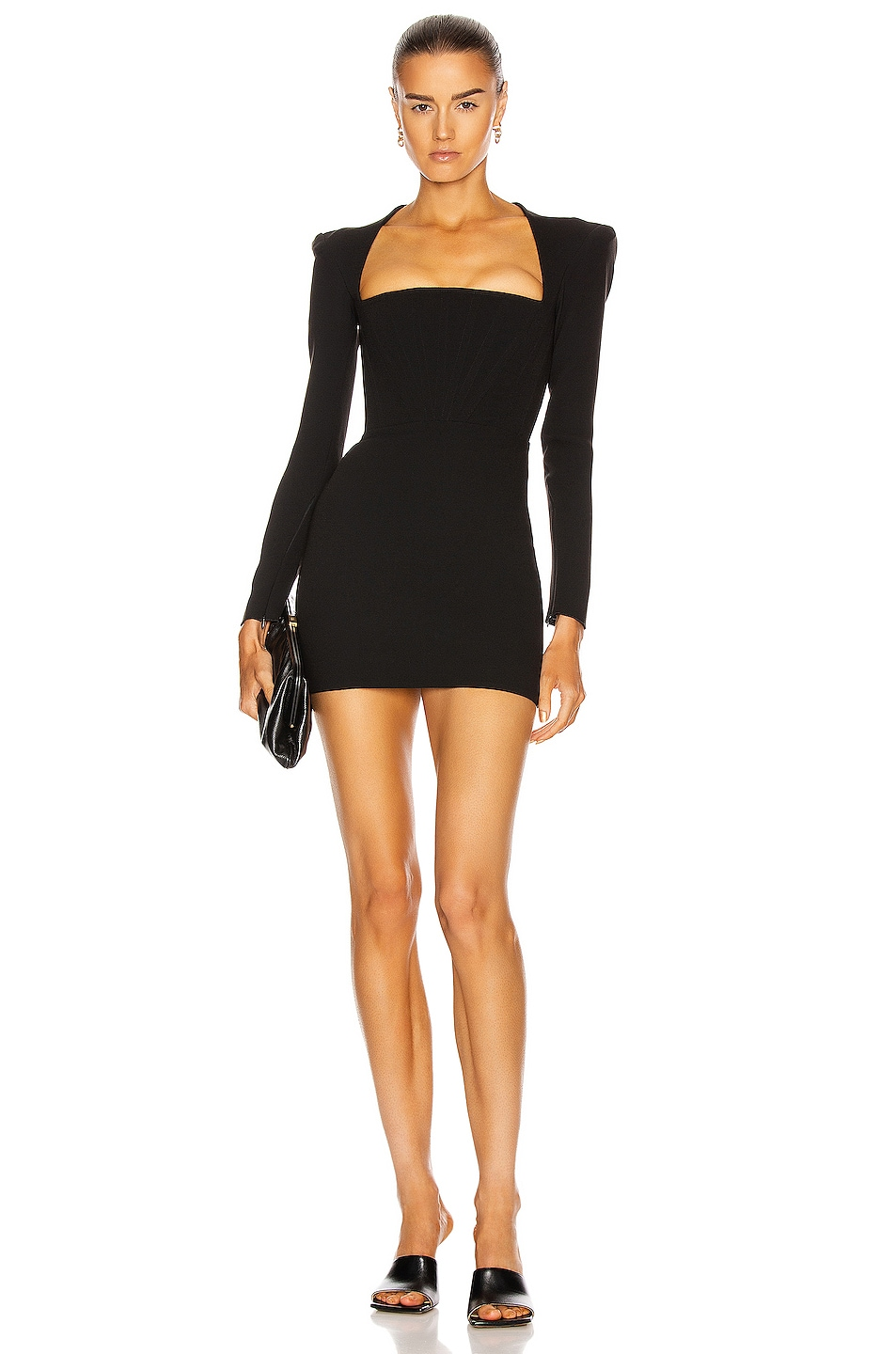 Image 1 of Alex Perry Benison Dress in Black