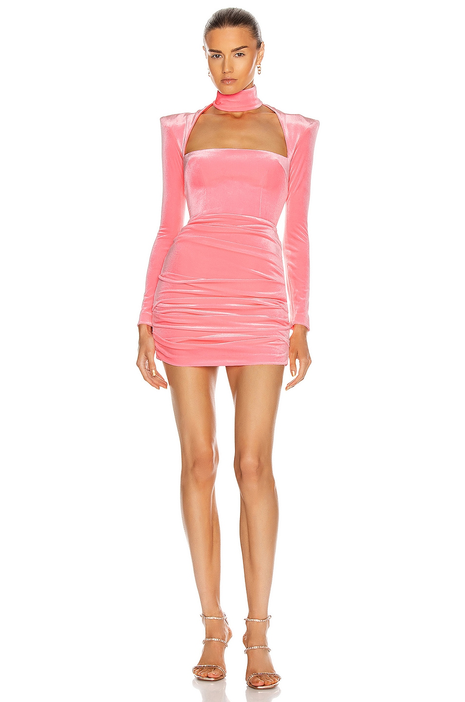 Image 1 of Alex Perry Ashton Dress in Fluro Pink