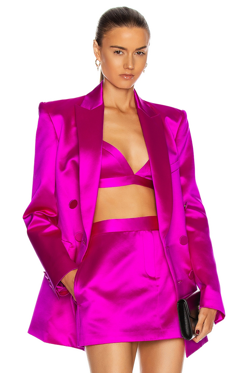 Image 1 of Alex Perry Carlton Blazer in Pink