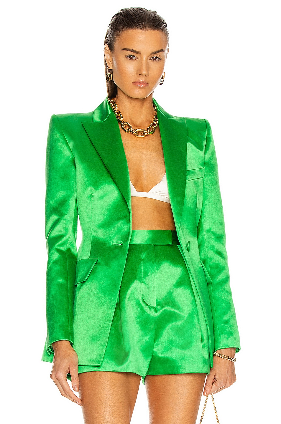 Image 1 of Alex Perry Banks Blazer in Emerald