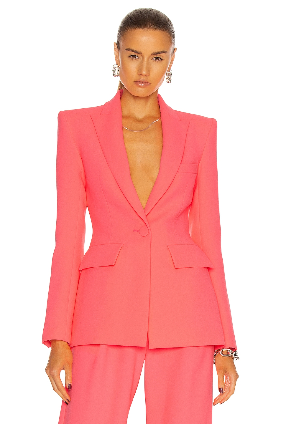 Image 1 of Alex Perry Carter Blazer in Neon Pink